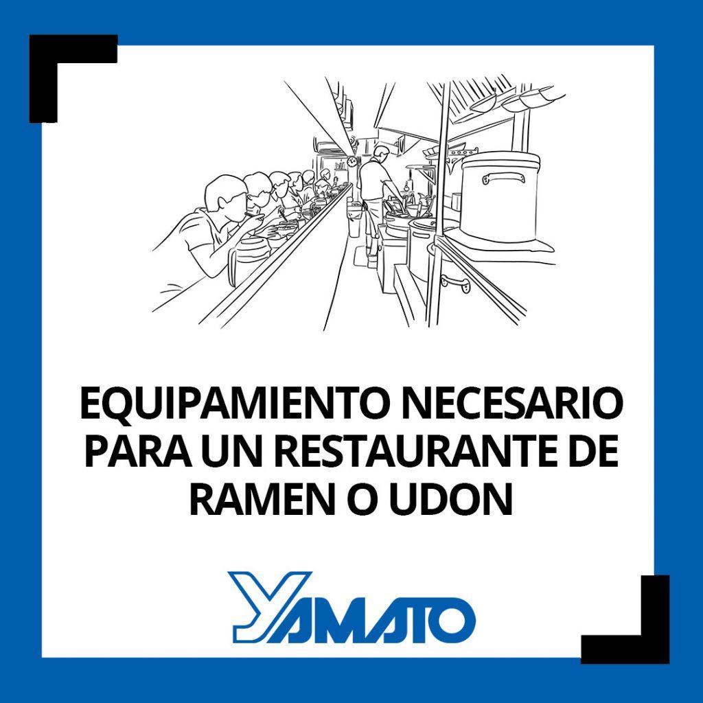 Equipo necesario para un restaurante de ramen